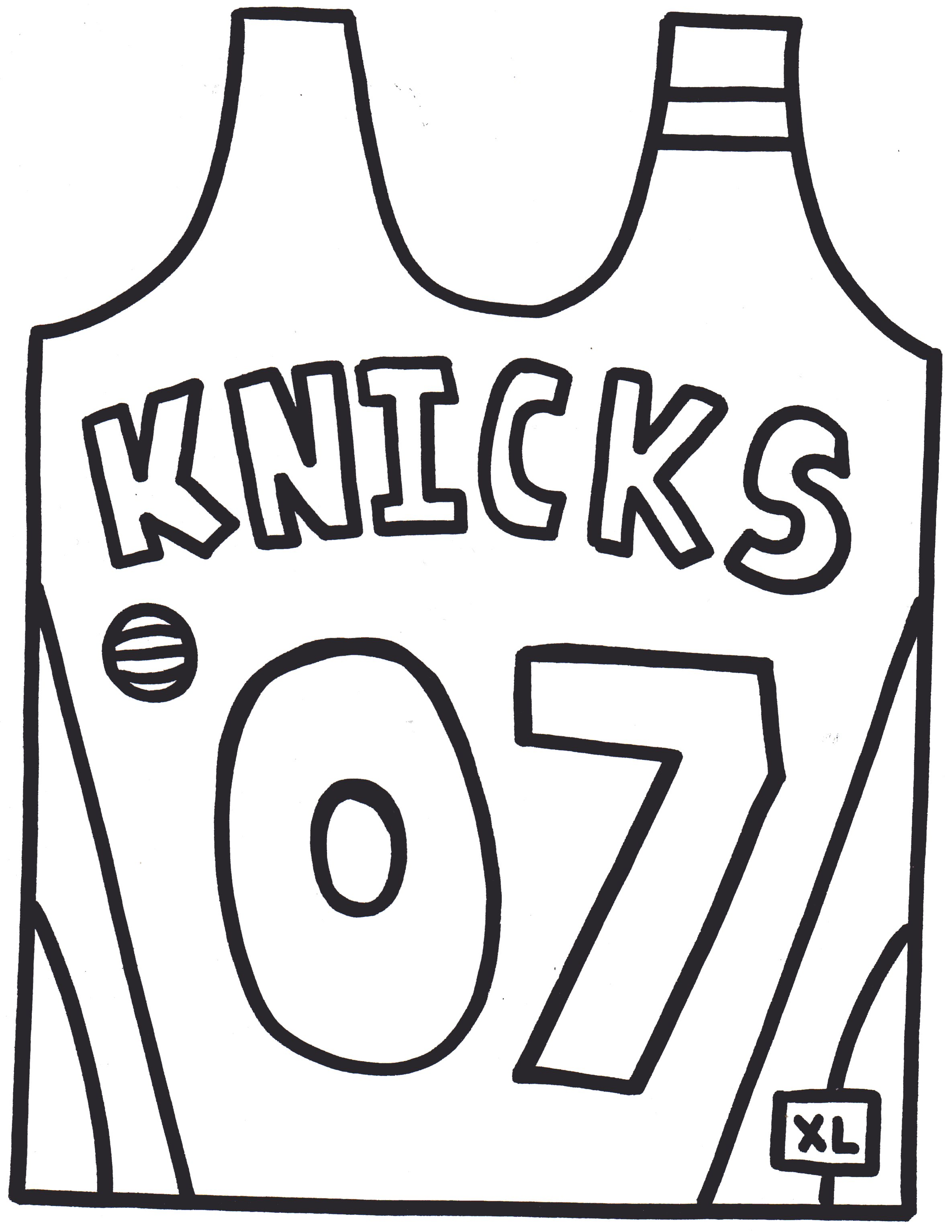 blank jersey coloring page