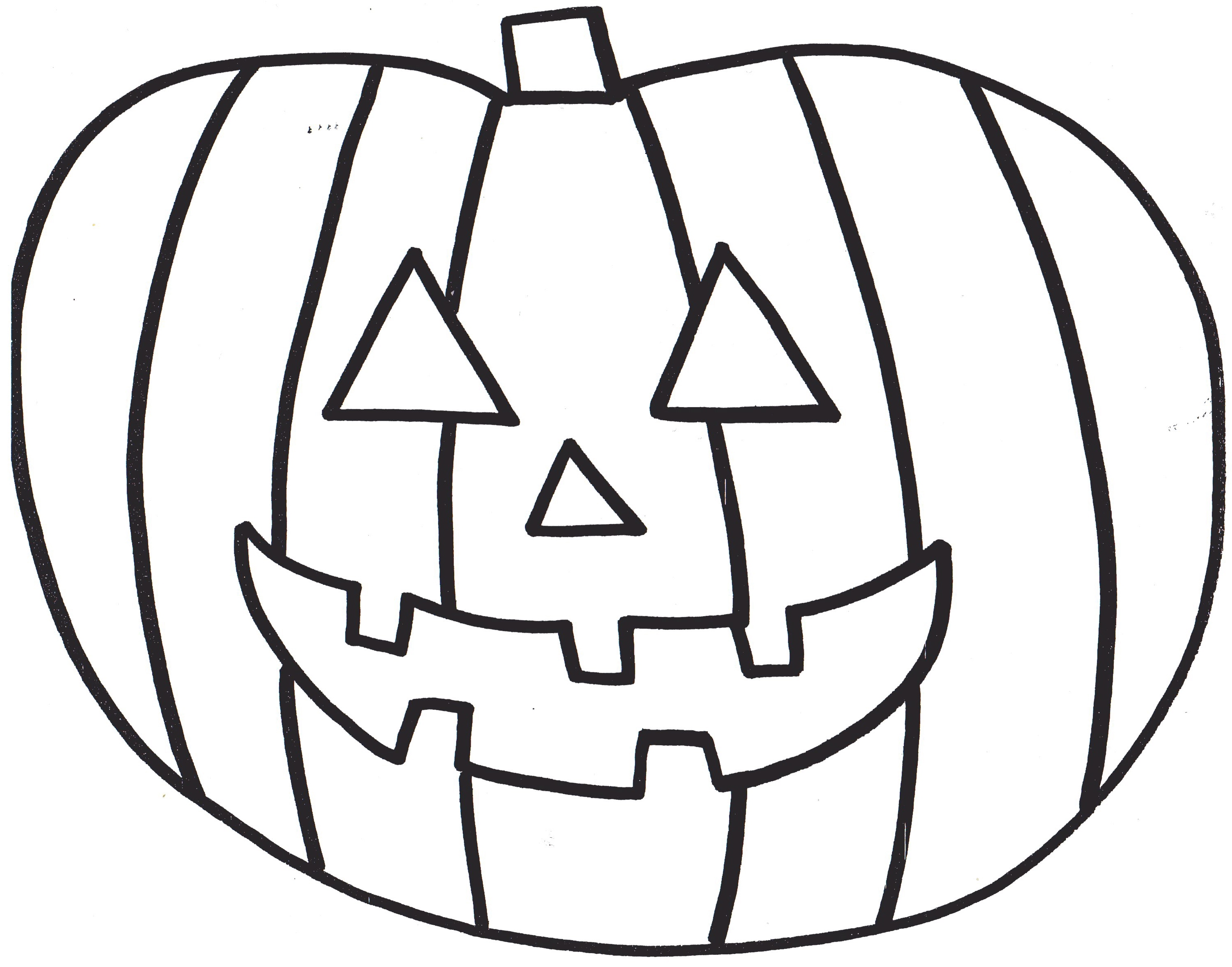 jack o lantern face coloring pages youtuf com