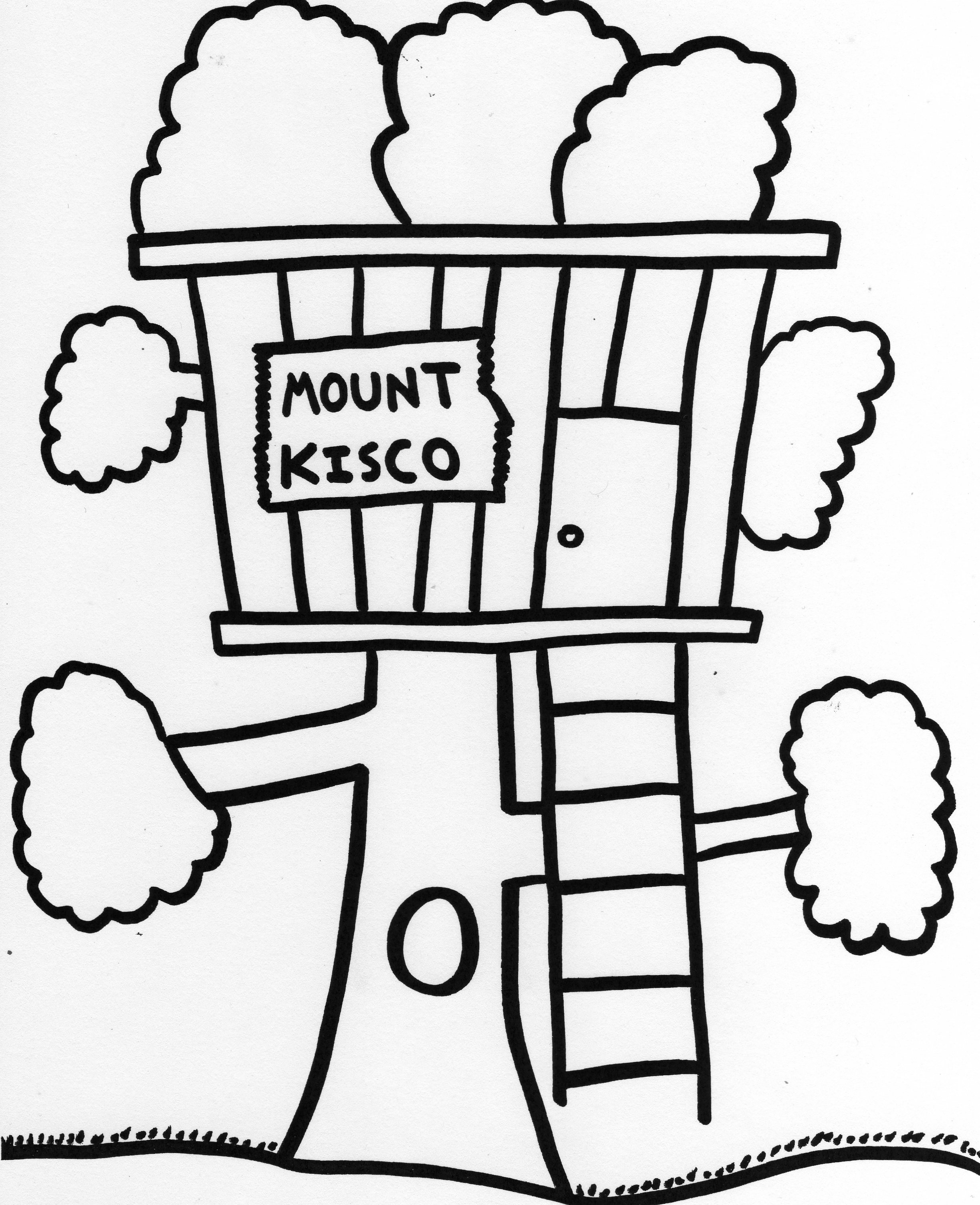 Tree House Coloring Pages Tree House Coloring Pages