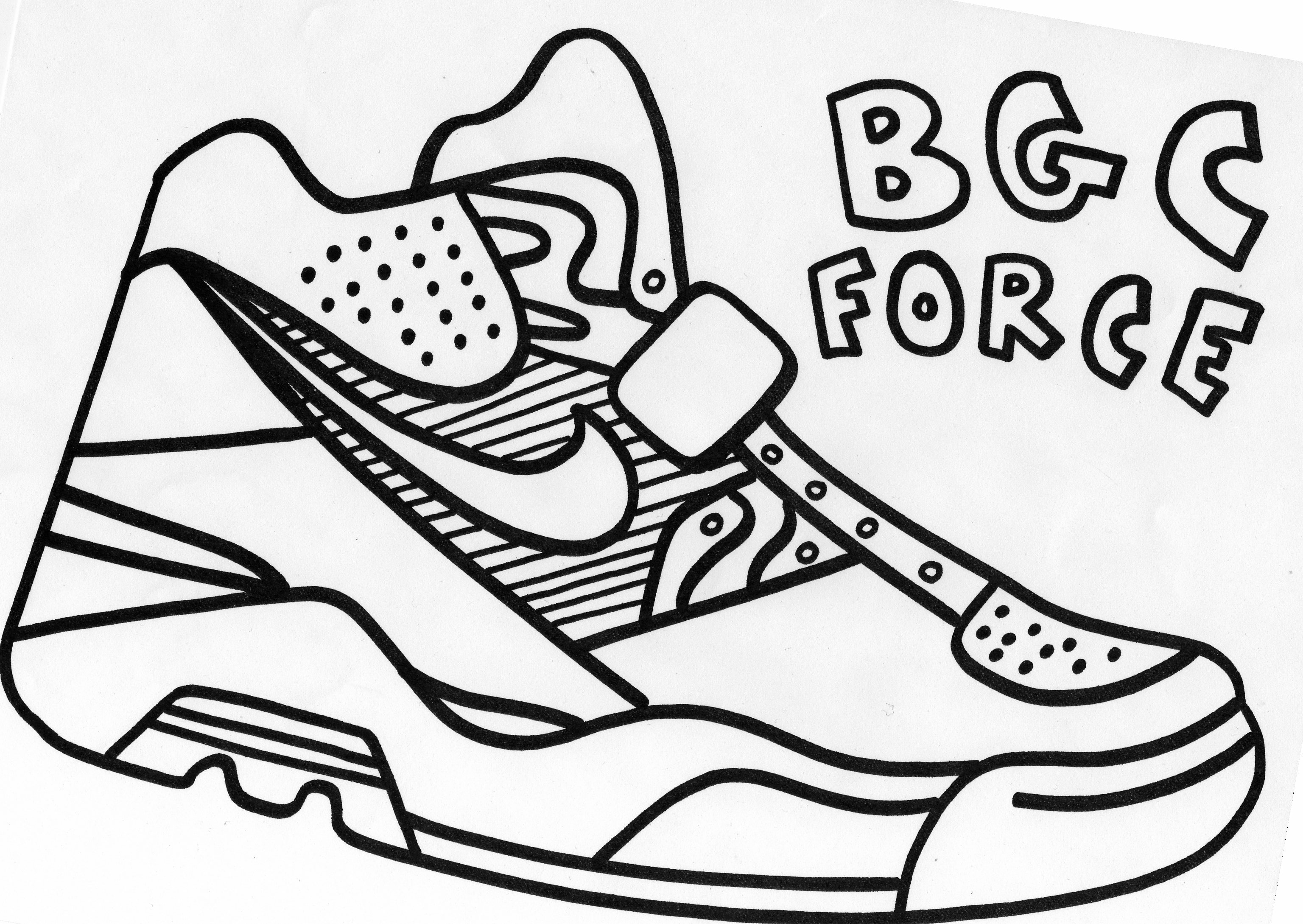 nike shoe coloring pages - Pete Cat Shoes Coloring Pages