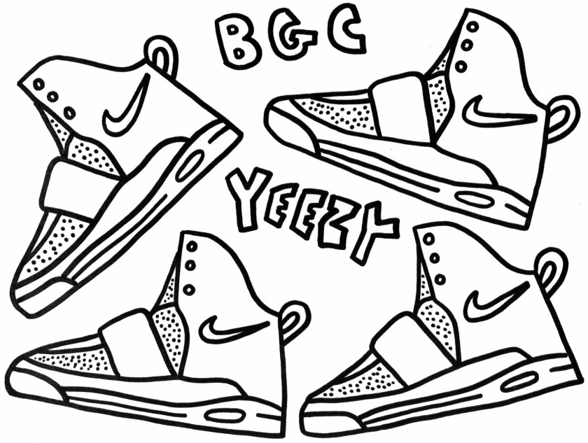Air Yeezy and iPod Touch Coloring Sheets – Westcheddar